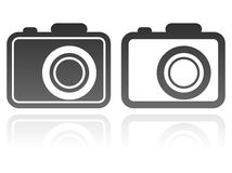 Set of camera icons. Simple illustration with a set of camera icons Stock Photos