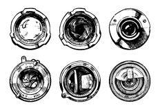 Set of camera lens Royalty Free Stock Images