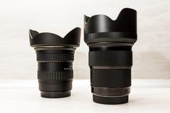 Set of camera lens stock photos