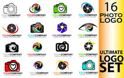 Set of camera logo Royalty Free Stock Photography