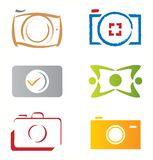 Set of Camera Photograph Icons / Vector Elements Royalty Free Stock Images