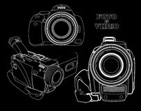 Set of cameras Stock Photography
