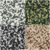 Set of camouflage background  Stock Image