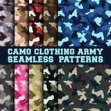 Set of camouflage clothing army seamless pattern Royalty Free Stock Photography