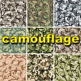 Set of camouflage pattern Royalty Free Stock Photo