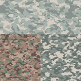 Set of camouflage patterns stock illustration