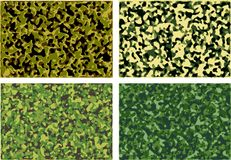 Set of camouflage textures Royalty Free Stock Photography