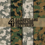 Set of camouflages vector illustration