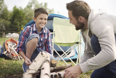 Set a campfire Royalty Free Stock Photography