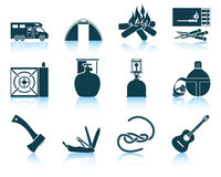 Set of camping icons. Stock Photos