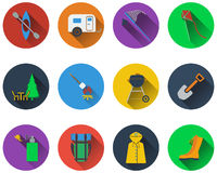 Set of camping icons Stock Image