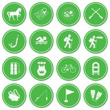 Set of camping and sport equipment icons. Vector illustration Stock Photography