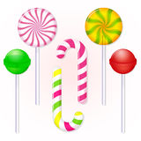 Set of candies lollipop Stock Photos