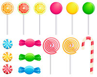 Set candies Royalty Free Stock Photos