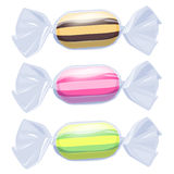 Set of candies in transparent wrapper. Royalty Free Stock Photos
