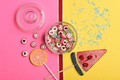 Set of candies and lollipops Royalty Free Stock Photography