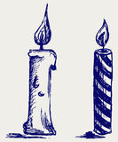 Set candles. Doodle style. Vector Stock Photo