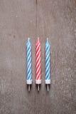 Set candles on birthday Stock Photo