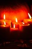 Set of Candles and pumpkin Royalty Free Stock Photos