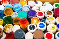 Set of cans of paint Stock Images