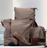 Set of canvas bags Royalty Free Stock Photography