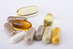 Set of capsules Stock Photo