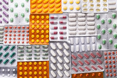 Set of capsules in medical light. Stock Photography