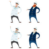 Set of captains Stock Image