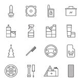 Set of car accessories icons Royalty Free Stock Photography