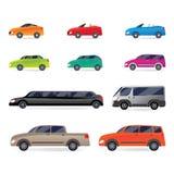 Set of car bodies Stock Photos