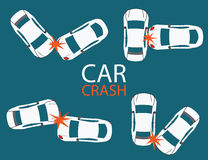 Set of Car crash and accidents. Royalty Free Stock Photo