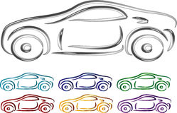 Set of Car design in 3D Royalty Free Stock Photos