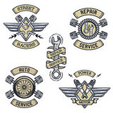 Set of car emblems, badges, symbols Royalty Free Stock Images