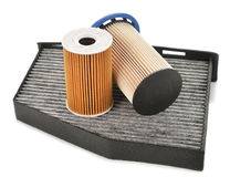 Set of car filters Royalty Free Stock Image