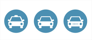 Set of car icons. Cars, taxi icon Royalty Free Stock Images