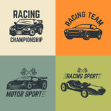 Set of car icons. Motor sport, car racing. Royalty Free Stock Images