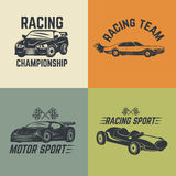 Set of car icons. Motor sport, car racing. Vector illustration Royalty Free Stock Photo