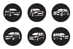 Set of car icons Stock Image
