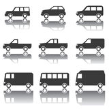 Set of Car Icons, Transportation, Traffic, Vehicles Royalty Free Stock Image