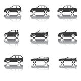 Set of Car Icons, Transportation, Traffic, Vehicles Stock Images