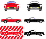 Set of car images suitable for logo or sign use Royalty Free Stock Photo