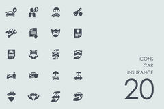 Set of car insurance icons Stock Image