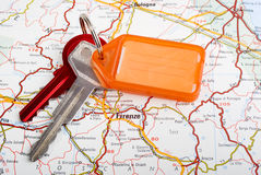 Car Keys and Map Florence Royalty Free Stock Image
