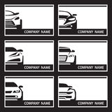 Set of car labels Royalty Free Stock Photo
