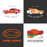 Set of car paint, car parts vector icon, symbol, sign, logo Stock Images