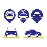 Parking. A set of car parking icons Royalty Free Stock Images