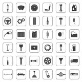 Set of car parts icons Royalty Free Stock Photography