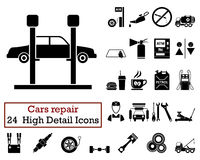 Stock Illustration Car Washing Icons Set Isolated Black White Background Image43190935 on pressure washing station