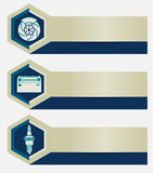 Set of car repair shop banners with icons design elements. Templates for business presentations auto service company. Royalty Free Stock Photography