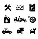 Set of car service and automobile Stock Image